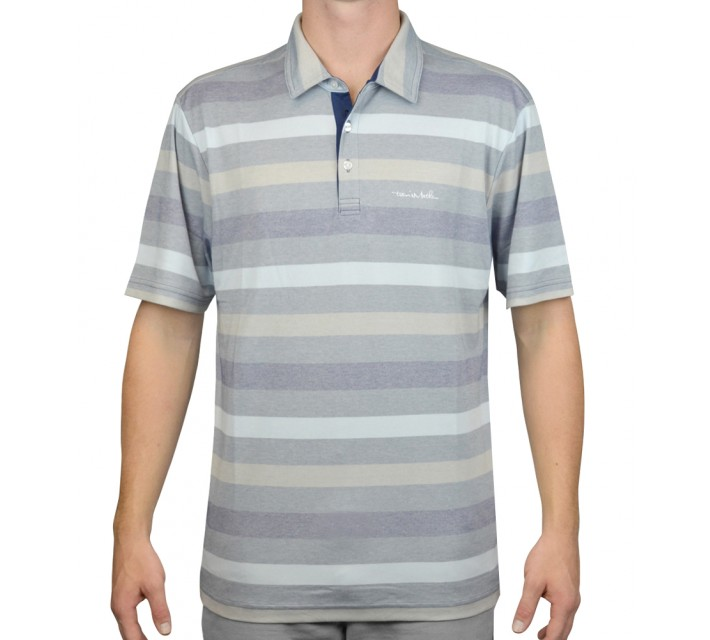 TRAVISMATHEW GOLF SHIRT THE REAL DEAL VINTAGE INDIGO - AW15