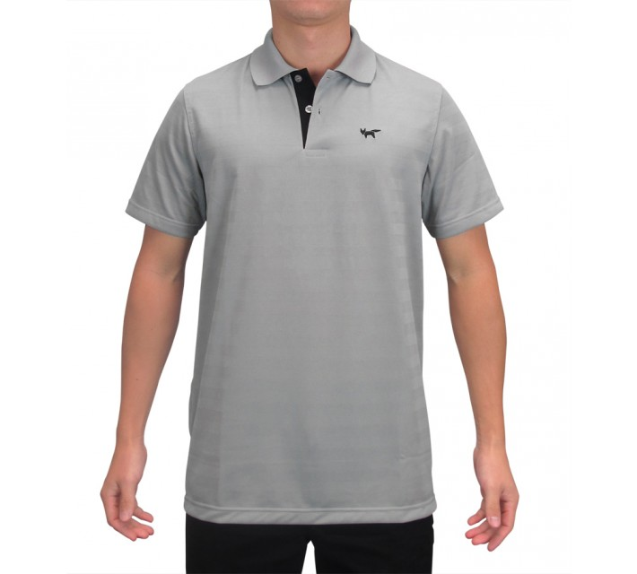 WOLSEY THERMOCOOL TWO BUTTON TEXTURED STRIPED POLO GRIFFIN - SS15