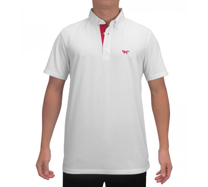 WOLSEY THERMOCOOL THREE BUTTON PIQUE POLO BRIGHT WHITE - SS15