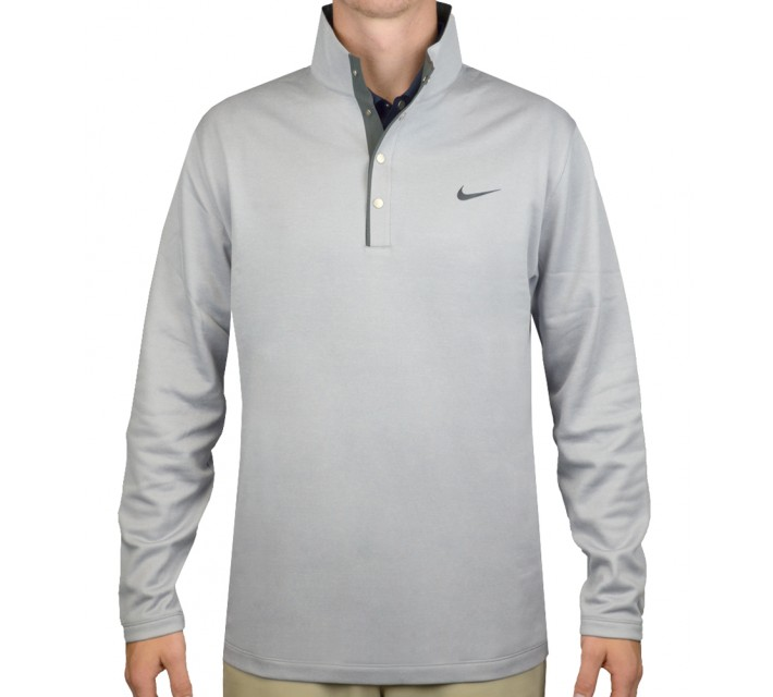 TIGER WOODS THERMA-FIT HYBRID POLO WOLF GREY - SS16 CLOSEOUT