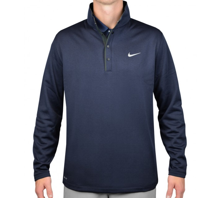 TIGER WOODS THERMA-FIT HYBRID POLO MIDNIGHT NAVY - AW15 CLOSEOUT