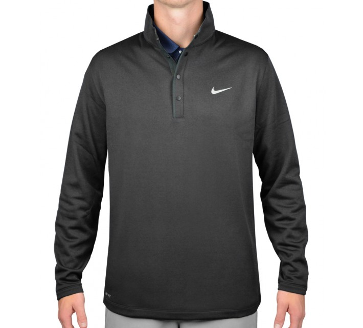 TIGER WOODS THERMA-FIT HYBRID POLO BLACK - SS16 CLOSEOUT