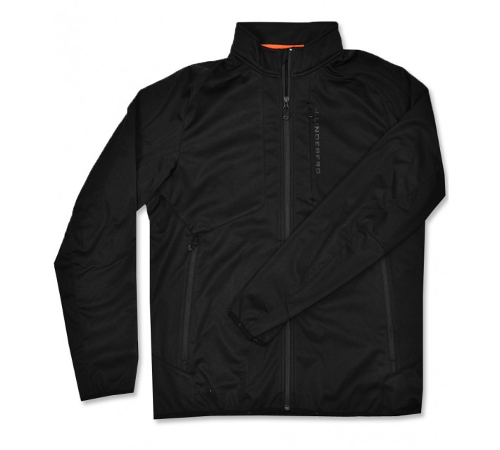 J. LINDEBERG THERMAL WIND FLEECE JACKET BLACK - AW16