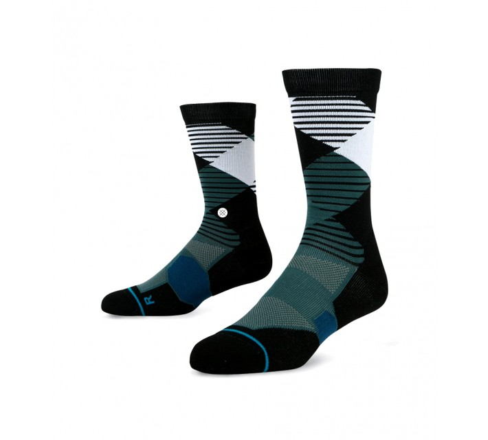 STANCE GOLF SOCKS THREADED BLACK - AW16