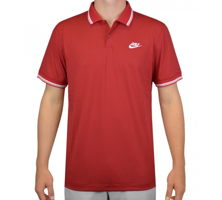NIKE GOLF O TIPPED NOVELTY POLO GYM RED - AW15 CLOSEOUT