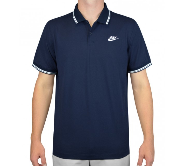NIKE GOLF O TIPPED NOVELTY POLO MIDNIGHT NAVY - AW15 CLOSEOUT