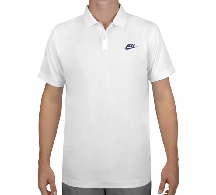 NIKE GOLF O TIPPED NOVELTY POLO WHITE - AW15 CLOSEOUT