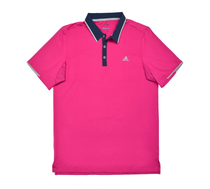 ADIDAS CLIMACOOL BRANDED PERFORMANCE POLO EQUIPMENT PINK - SS16