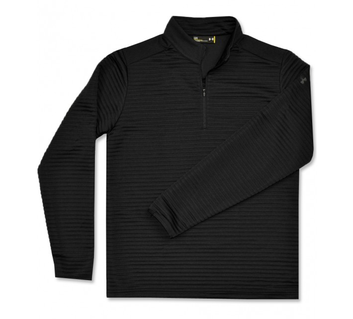 UNDER ARMOUR TIPS DAYTONA 1/4 ZIP PULLOVER BLACK - AW16
