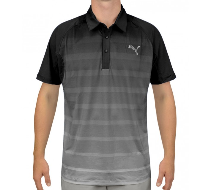PUMA TITAN STRIPE POLO BLACK - AW15