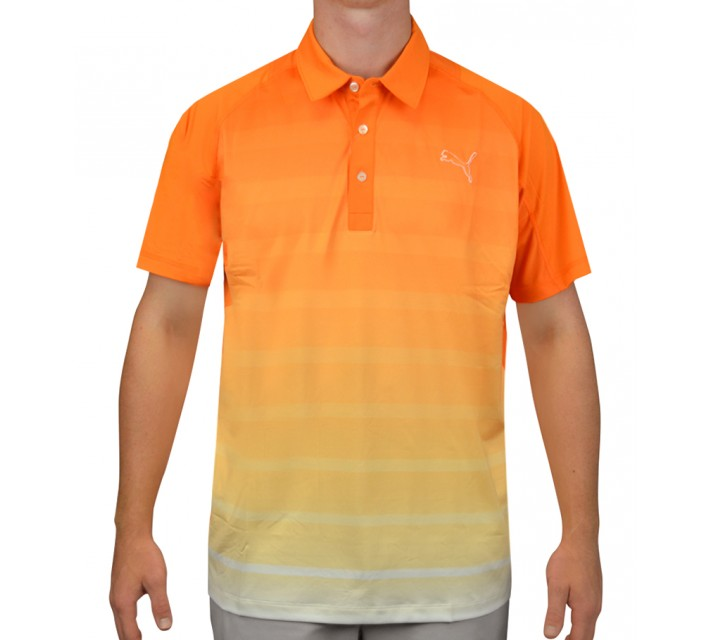 PUMA TITAN STRIPE POLO VIBRANT ORANGE - AW15