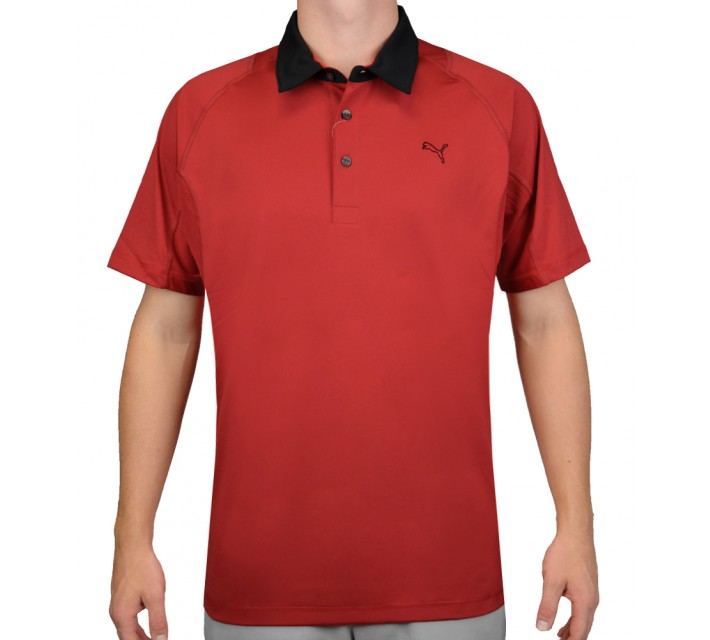 PUMA TITAN TOUR POLO TANGO RED/BLACK - AW15