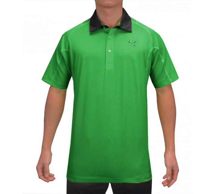 PUMA TITAN TOUR POLO BRIGHT GREEN - SS15