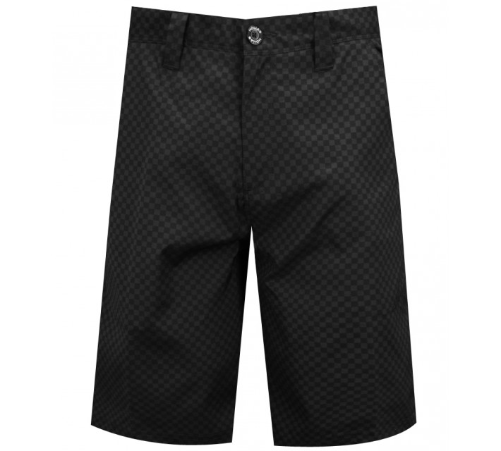 HOLLAS TONAL GINGHAM SHORT BLACK – SS15