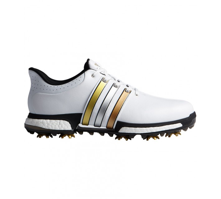 ADIDAS TOUR360 BOOST SHOE WHITE/GOLD/BLACK - AW16