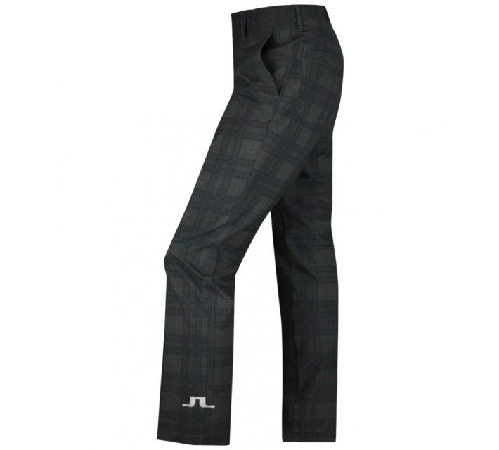 J. LINDEBERG TOUR SLIM MICRO STRETCH PANTS CHECKED NAVY/PURPLE - AW15