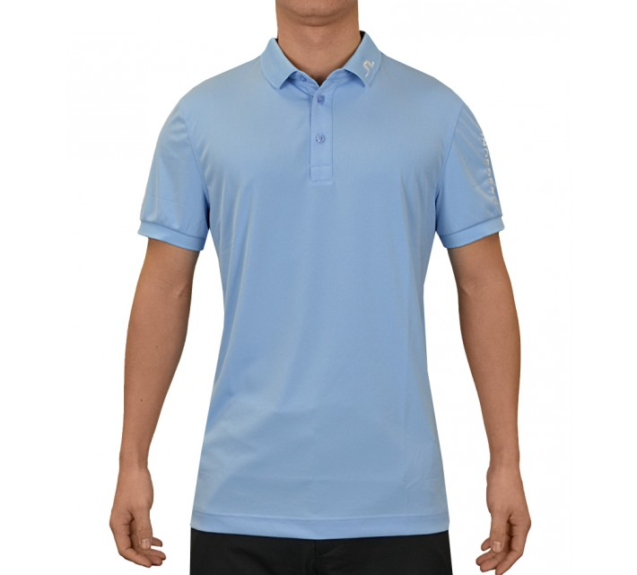 J. LINDEBERG TOUR TECH SLIM TX JERSEY CLEAR BLUE - SS15