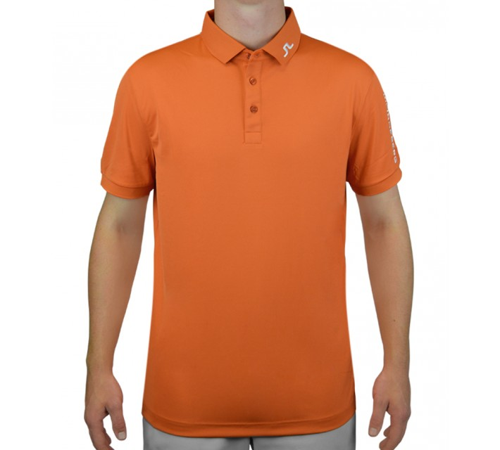 J. LINDEBERG TOUR TECH TX JERSEY ORANGE/RED - AW15