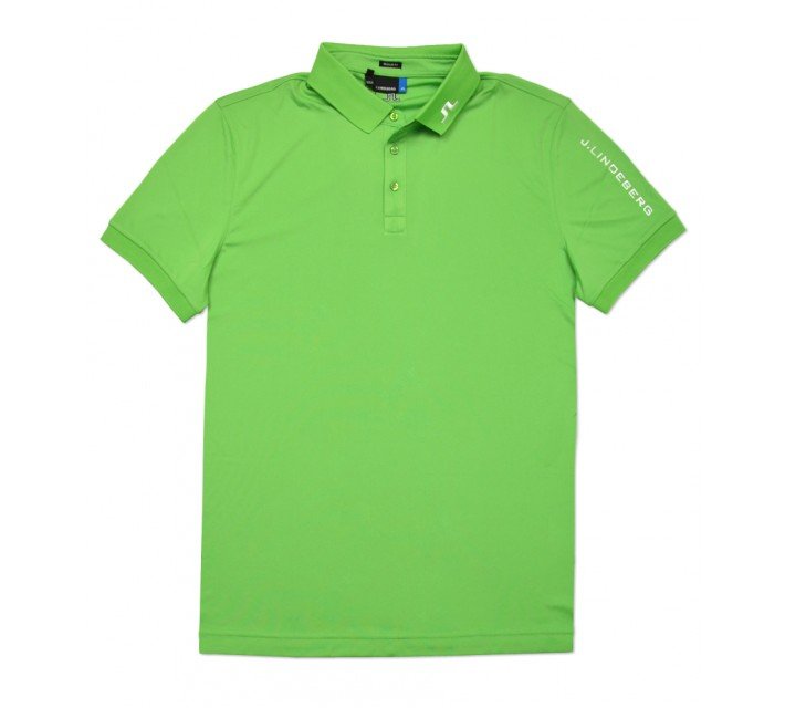 J. LINDEBERG TOUR TECH TX JERSEY POLO GREEN INTENSE - SS16