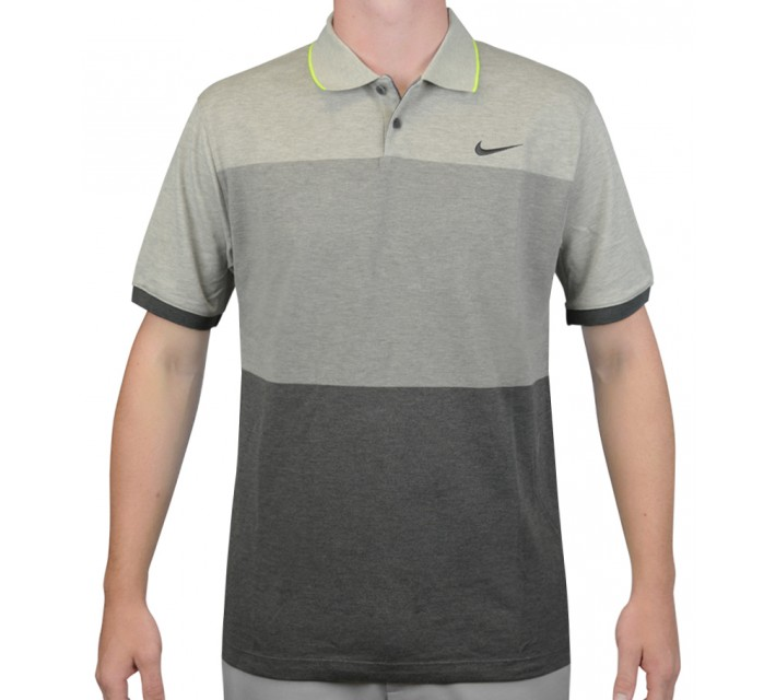 NIKE TRANSITION BLOCK POLO GREY HEATHER - AW15 CLOSEOUT