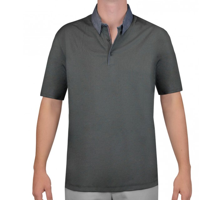 NIKE TRANSITION CHAMBRAY POLO DARK GREY - AW15 CLOSEOUT