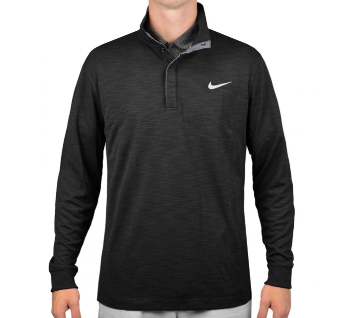 NIKE L/S TRANSITION CHAMBRAY BLACK HEATHER - AW15 CLOSEOUT