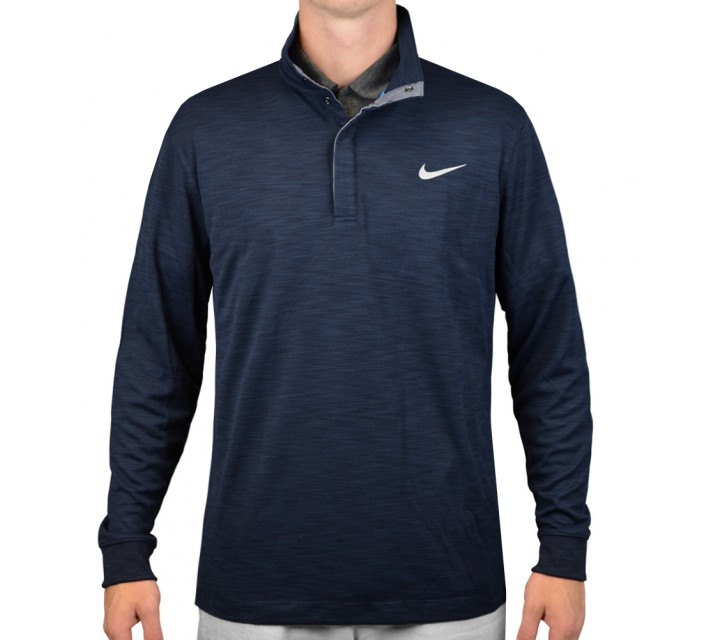 NIKE L/S TRANSITION CHAMBRAY OBSIDIAN HEATHER  - AW15 CLOSEOUT