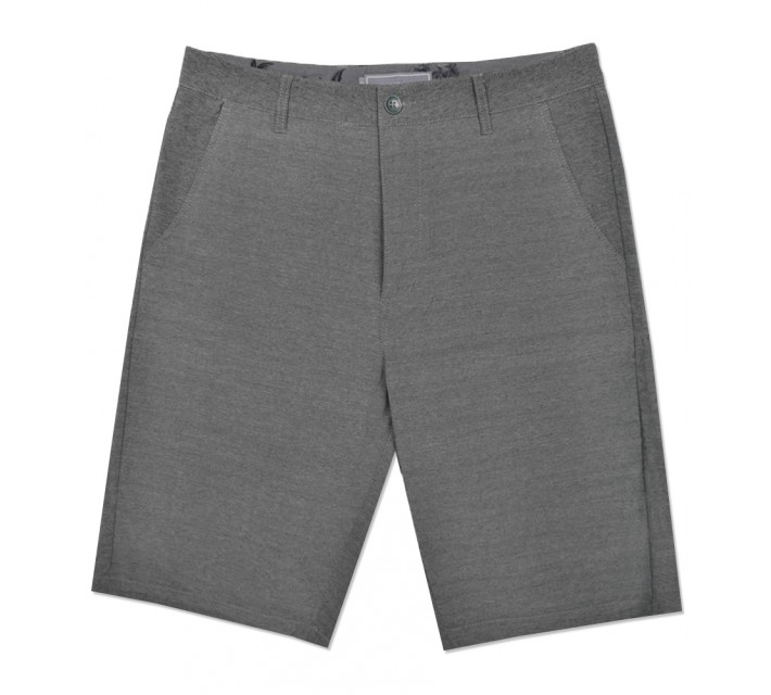 MATTE GREY TREKKER BADGE SHORTS SHADOW - SS16