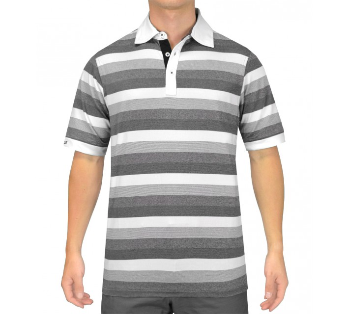HOLLAS TRINITY GOLF SHIRT MELANGE BLACK - SS15