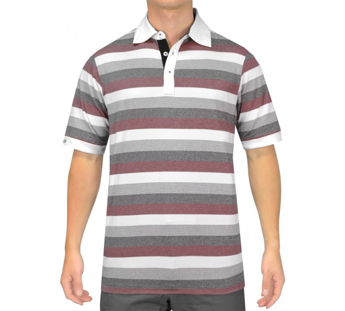 HOLLAS TRINITY GOLF SHIRT MELANGE RED - SS15