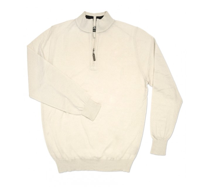 G-MAC TROYER 1/4 ZIP SWEATER BONE - SS16