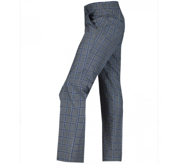 J. LINDEBERG TROON MICRO STRETCH GOLF PANTS CHECKED DK GREY - SS15