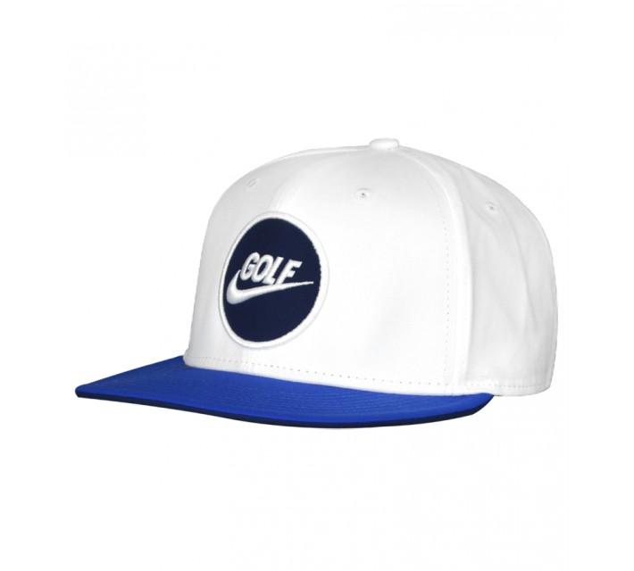 NIKE GOLF O TRUE CAP WHITE/GAME ROYAL - AW15 CLOSEOUT