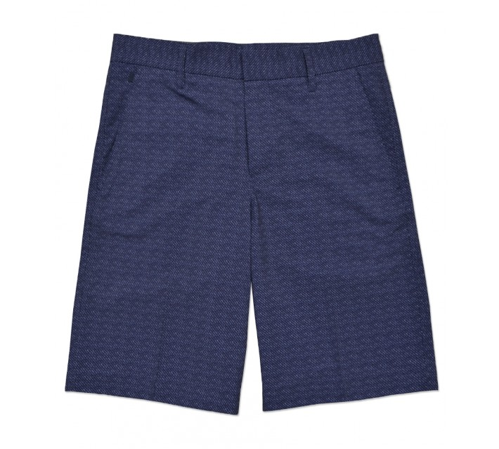 J. LINDEBERG TRUE MICRO STRETCH PATTERN SHORT NAVY - SS16