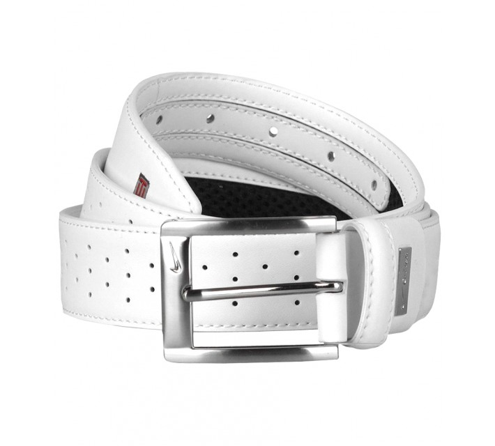 TIGER WOODS PERFORATED MESH 2 BELT WHITE  - AW16