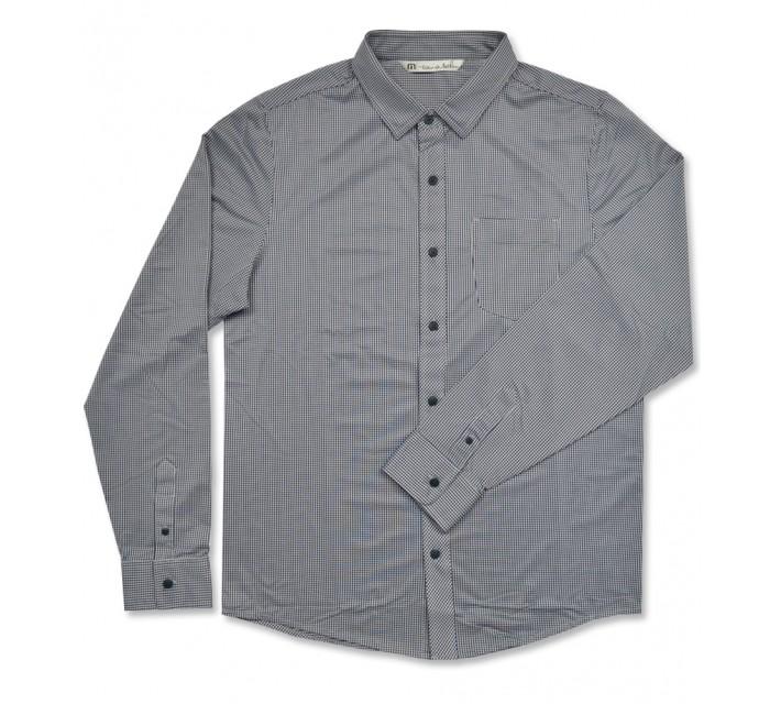 TRAVISMATHEW ULLMAN SHIRT DRESS BLUE/MICROCHIP - AW16