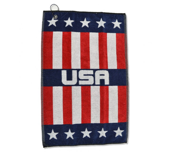 DEVANT USA WOVEN GOLF TOWEL RED/WHITE/BLUE - AW16