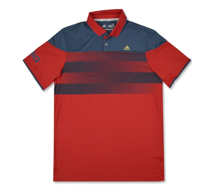 ADIDAS CLIMACHILL USA AMERICAN STRIPE POLO SCARLET/MINERAL BLUE - AW16