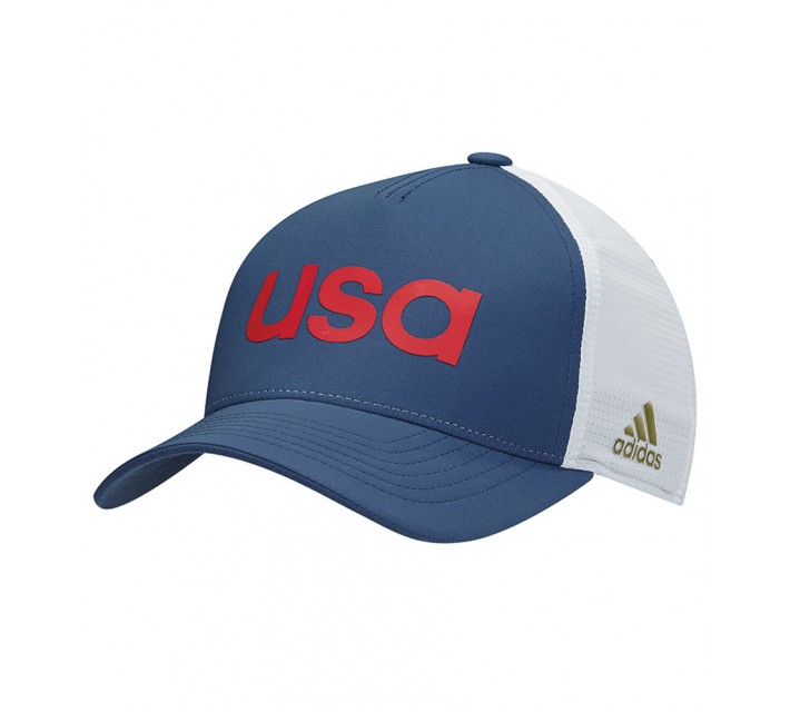 ADIDAS 2016 OLYMPICS TEAM USA HAT MINERAL BLUE/CLEAR GREY-AW16