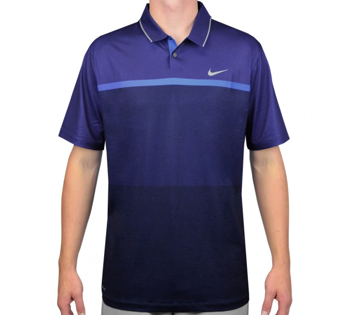 TIGER WOODS MOBILITY PRINT POLO MIDNIGHT NAVY - AW15 CLOSEOUT