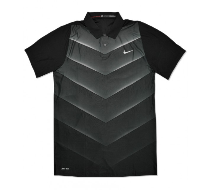 TIGER WOODS VELOCITY MAX HYPERCOOL FADE POLO BLACK - SS16 CLOSEOUT