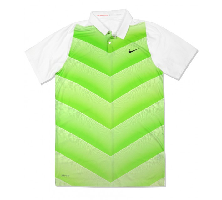 TIGER WOODS VELOCITY MAX HYPERCOOL FADE POLO WHITE - SS16 CLOSEOUT
