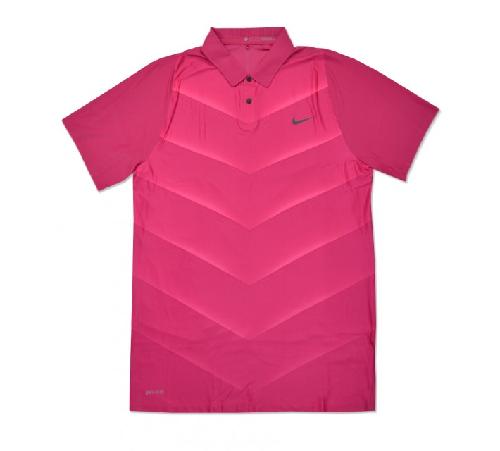 TIGER WOODS VELOCITY MAX HYPERCOOL FADE POLO VIVID PINK - SS16 CLOSEOUT