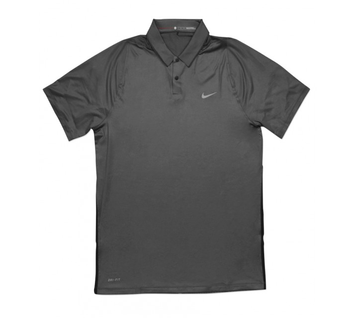 TIGER WOODS VELOCITY MAX GLOW FRAMING POLO DARK GREY - SS16 CLOSEOUT