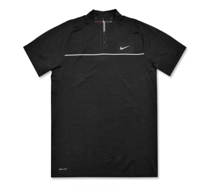 TIGER WOODS VELOCITY MAX SWING KNIT STRIPE POLO BLACK - AW16