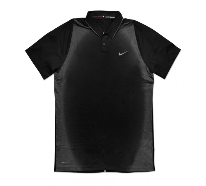 TIGER WOODS VELOCITY MAX MESH FRAMING POLO BLACK - SS16 CLOSEOUT