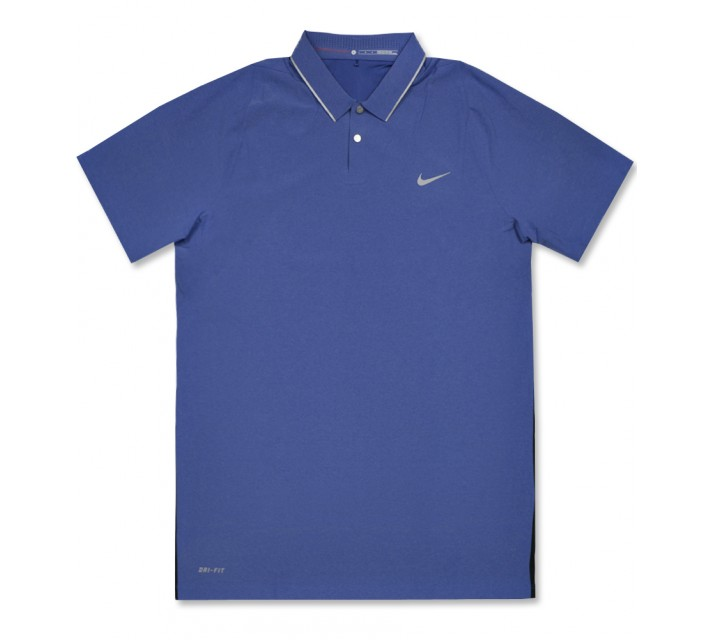 TIGER WOODS VELOCITY MAX WOVEN SOLID POLO GAME ROYAL - AW16