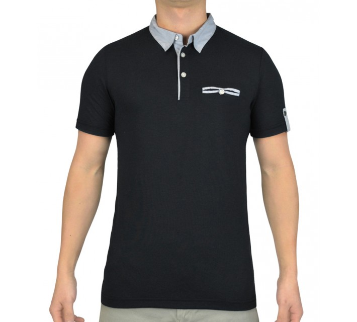 CROSS VIKLAU GOLF POLO BLACK - SS15