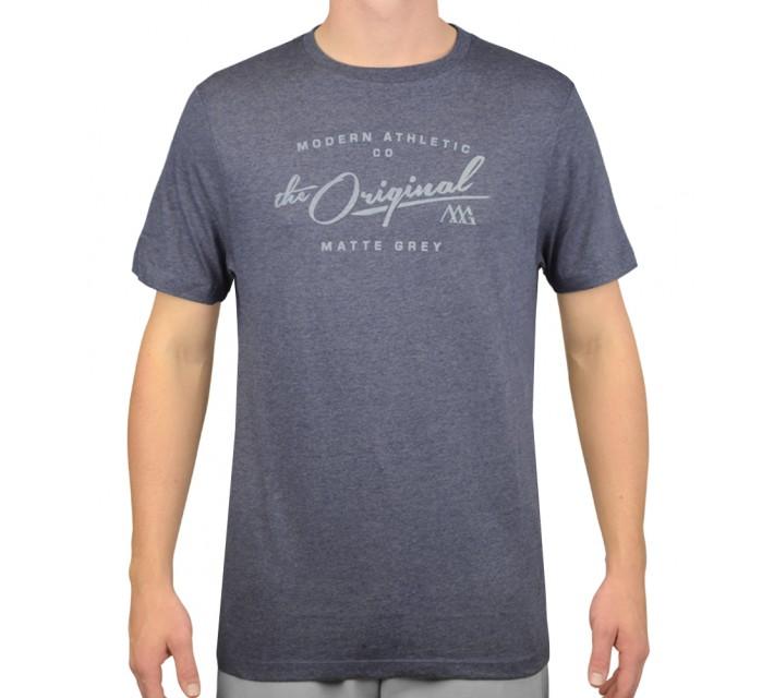 MATTE GREY VINTAGE T-SHIRT NAVY HEATHER - AW15