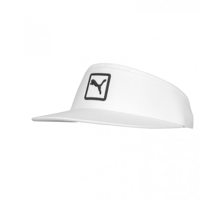PUMA CAT PATCH PERFORMANCE VISOR WHITE - AW15
